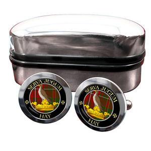 【送料無料】メンズアクセサリ― スコットランドカフリンクスボックスhay scottish clan crest cufflinks amp; box