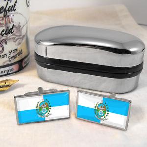 【送料無料】メンズアクセサリ― リオデジャネイロカフスボタンボックスrio de janeiro flag cufflinks amp; box