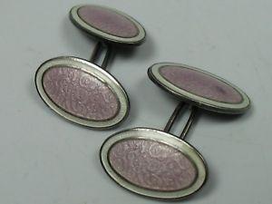 【送料無料】メンズアクセサリ― ビンテージカフリンクススターリングシルバーエナメルrare vintage cuff links sterling silver with enamel