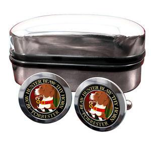 【送料無料】メンズアクセサリ― フォレスタースコットランドバッジカフスボタンボックスforrester scottish clan crest badge cufflinks amp; box