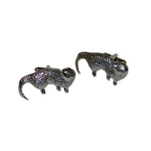 【送料無料】メンズアクセサリ― ボックス×カワウソピューターカフリンクスenglish made otter pewter cufflinks in a leatherette box x2tsbca13