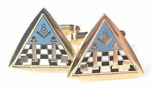 【送料無料】メンズアクセサリ― カーペットエナメルカフリンクスボックスfreemason masonic temple amp; carpet enamel crested cufflinks n40 gift boxed