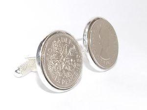 【送料無料】メンズアクセサリ― コインカフスボタン601958 sixpence coin cufflinks quality mens 60th birthday gift ht