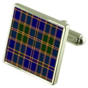 【送料無料】メンズアクセサリ― タータンチェックハワイスターリングシルバーカフスボタンボックスus state tartan hawaii sterling silver cufflinks engraved box