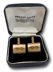 【送料無料】メンズアクセサリ― ヴィンテージボックスカフリンクスvintage 1950s 1960s midcentury goldtone cufflinks in box
