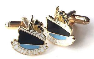 【送料無料】メンズアクセサリ― タイタニックエナメルカフリンクスボックスrms titanic enamel crested cufflinks n128 gift boxed