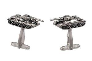 【送料無料】メンズアクセサリ― オニキスアートボックスタンクデザインカフリンクスarmy military tank design cufflinks in onyx art cufflink box