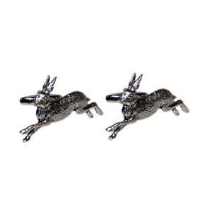 【送料無料】メンズアクセサリ― ボックス×ピューターウサギカフリンクスenglish made pewter hare cufflinks in leatherette box x2tsbca02