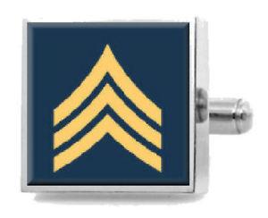 【送料無料】メンズアクセサリ― カフスボタンsterling engraved cufflinks army sergeant
