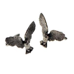 【送料無料】メンズアクセサリ― ボックスフクロウピューターカフリンクスenglish made owl pewter cufflinks in a leatherette box xwcl087