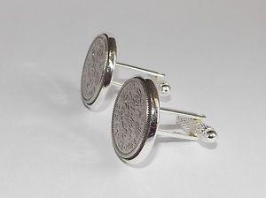 【送料無料】メンズアクセサリ― コインカフスボタンメンズプレゼント1962 sixpence coin cufflinks mens 56th birthday gift present anniversary
