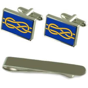 【送料無料】メンズアクセサリ― フラグシルバーカフスボタンタイクリップボックスセットfiav flag silver cufflinks tie clip box gift set