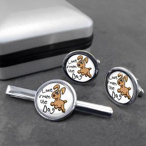 【送料無料】メンズアクセサリ― カフリンクスラブタイボックススライドクリップセットlove from the dog cufflinks amp; tieslideclip set in a gift box
