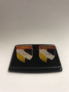 【送料無料】メンズアクセサリ― ノーフォークフラグシールドカフスリンクcf076norfolk county flag shield gold plated cufflinks cf076