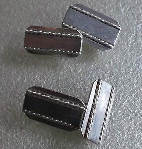 【送料無料】メンズアクセサリ― ビンテージメンズカフリンクスcufflinks vintage mens cuff links traditional 1960s 1970s rectangle