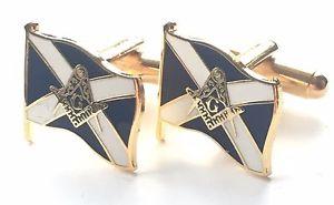 【送料無料】メンズアクセサリ― スコットランドxエナメルフリーメーソンカフスリンクn44masonic crest on scotland saltire enamel crested cufflinks n44 gift boxed