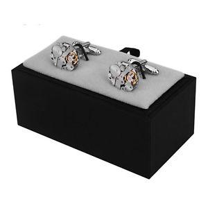 【送料無料】メンズアクセサリ― メンズシルバーカフスボタンギアウォッチカフリンクスmens steampunk silver cufflinks gear watch cuff links wedding jewelry gifts