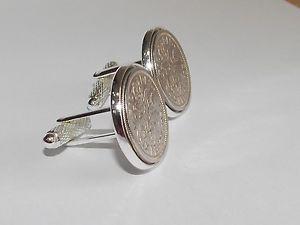 【送料無料】メンズアクセサリ― 19546ペンスコインカフスリンクmens641954 sixpence coin cufflinks mens 64th birthday gift present anniversary