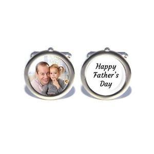 【送料無料】メンズアクセサリ― パーソナライズカスタムカフスボタンプレゼントpersonalised custom photo cufflinks happy fathers day, dads birthday gift