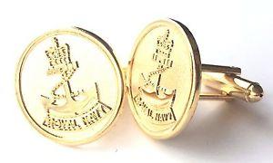 【送料無料】メンズアクセサリ― カフスリンクn357royal navy gilt crested cufflinks n357