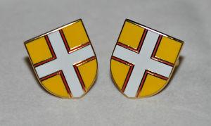 【送料無料】メンズアクセサリ― ドーセットカウンティフラグシールドメッキカフスボタンdorset county flag shield gold plated cufflinks cf040