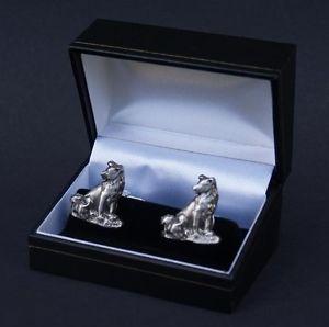 【送料無料】メンズアクセサリ― カフスリンクコリーシロメカフスリンクfreepostcufflinks collie dog and puppy pewter cuff link boxed weddings free uk post