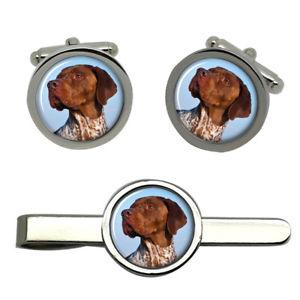 【送料無料】メンズアクセサリ― フランセタイクリップセットbraque francais dog round cufflink and tie clip set