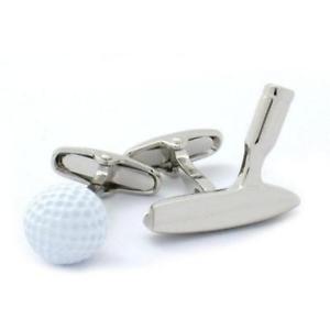 【送料無料】メンズアクセサリ― ゴルフボールパターカフスリンクgolf ball and putter cufflinks
