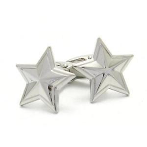 【送料無料】メンズアクセサリ― シルバースターカフリンクスsilver star cufflinks