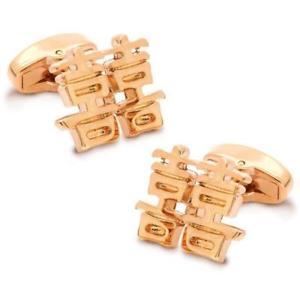 【送料無料】メンズアクセサリ― ローズゴールドchinese symbol of double happiness rose gold