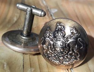 【送料無料】メンズアクセサリ― ピンカフスボタンイギリスmilitary buttonhole pin cufflinks british army icer genuine ww2