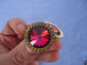 【送料無料】メンズアクセサリ― ビンテージレトロメンズラウンドゴールドカフリンクスvintage retro red purple crystal mens cufflinks round gold