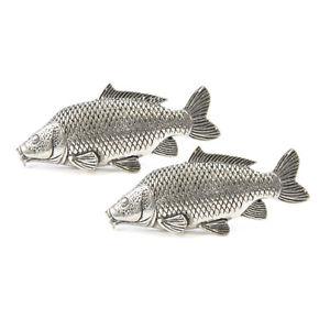 【送料無料】メンズアクセサリ― コイボックスピューターカフリンクスcarp english pewter cufflinks in gift box fishing angler tsbcf35