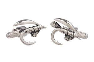 【送料無料】メンズアクセサリ― フィッシャーマンズオニキスアートボックスフックシャツカフリンクスfishermans fishing hook shirt cufflinks in onyx art cufflink box