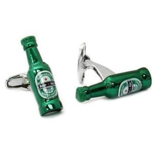 【送料無料】メンズアクセサリ― ビールカフリンクスgreen beer bottle cufflinks