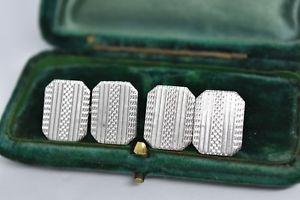 【送料無料】メンズアクセサリ― ビンテージスターリングシルバーアールデコデザインカフリンクスvintage sterling silver cufflinks with an art deco design b99