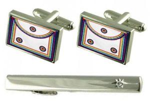 【送料無料】メンズアクセサリ― タイクリップメソニックロイヤルアークレガリアエプロンカフスボタンセットgift set tie clip masonic royal ark regalia apron cufflinks