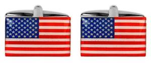 【送料無料】メンズアクセサリ― アメリカカフリンクスnovelty usa flag cufflinks