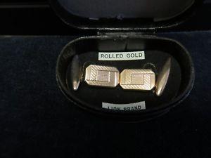 【送料無料】メンズアクセサリ― アールデコローズゴールドart deco 9ct rolled rose gold cufflinks