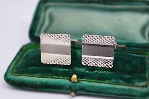 【送料無料】メンズアクセサリ― ビンテージスターリングシルバーアールデコデザインカフリンクスvintage sterling silver cufflinks with an art deco design b134