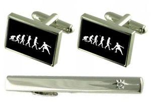 【送料無料】メンズアクセサリ― タイクリップカフスボタンgift set tie clip evolution ape to man table tennis cufflinks