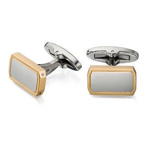 【送料無料】メンズアクセサリ― フレッドベネットステンレススチールゴールドメッキカフスボタンfred bennett stainless steel and gold plated cufflinks v512