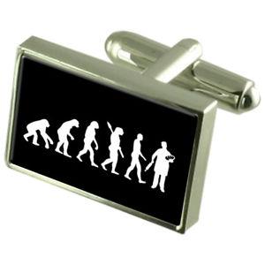 【送料無料】メンズアクセサリ― ベーカーカフスボタンクリスタルタイクリップバーボックスevolution ape to man baker cufflinks crystal tie clip bar box set engraved