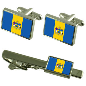 【送料無料】メンズアクセサリ― フィラデルフィアシティアメリカカフスボタンタイクリップボックスセットphiladelphia city usa flag cufflinks tie clip box gift set