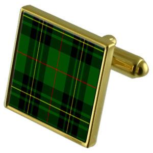 【送料無料】メンズアクセサリ― タータンチェックケースフォーブスゴールドカフリンクスtartan clan forbes gold cufflinks in engraved personalised case