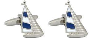【送料無料】メンズアクセサリ― ヨットカフリンクスnovelty sailing yacht cufflinks