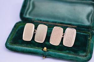 【送料無料】メンズアクセサリ― ビンテージアールデコスターリングシルバーゴールドプレートカフリンクスvintage art deco sterling silver cufflinks with a gold plate b90