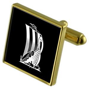 【送料無料】メンズアクセサリ― カフスボタンクリスタルタイクリップセットバイキングviking longboat goldtone cufflinks crystal tie clip gift set