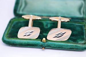 【送料無料】メンズアクセサリ― ビンテージアールデコスターリングシルバーゴールドプレートカフリンクスvintage art deco sterling silver cufflinks with a gold plate b92