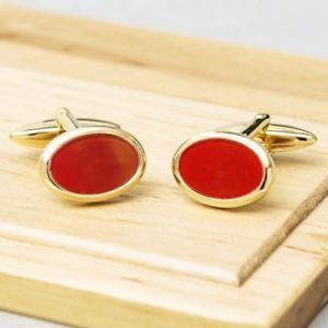 【送料無料】メンズアクセサリ― ゴールドカフリンクスgold cornelian cufflinks